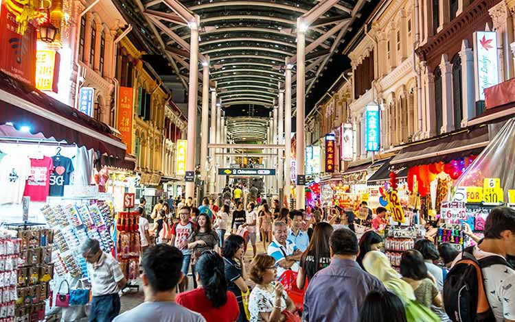 Chinatown tempat beli oleh oleh murah di Singapura