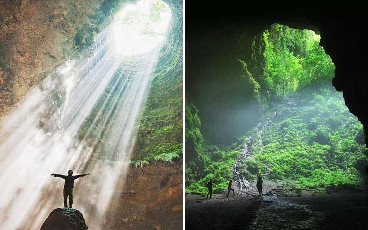 Tempat wisata Instagramable di Jogja - Goa Jomblang