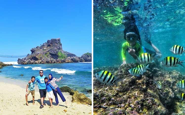 Tempat wisata Instagramable di Jogja - Pantai Nglambor