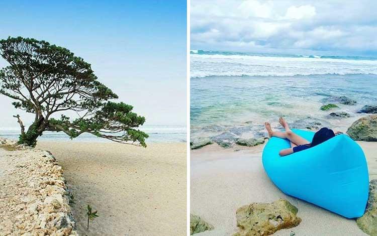 Tempat wisata Instagramable di Jogja - Pantai Pok Tunggal