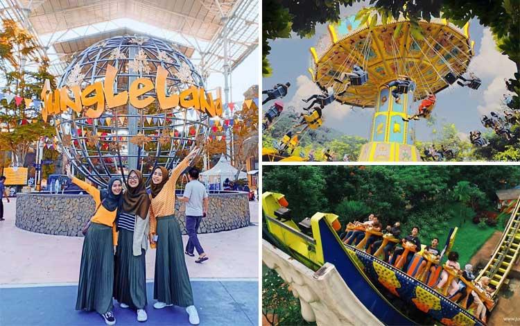 Taman bermain terbaik di Indonesia - JungleLand Adventure Theme Park