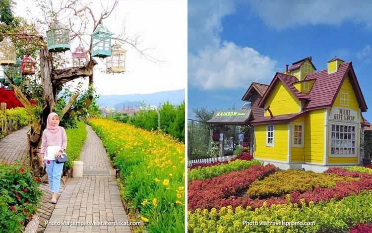 Tempat Wisata di Bandung Yang Instagramable - Rainbow Garden