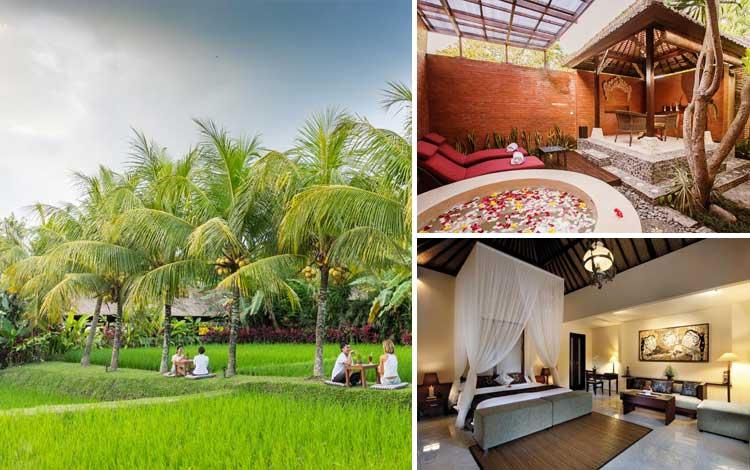 Villa romantis di Bali - Bebek Tepi Sawah Restaurant and Villa