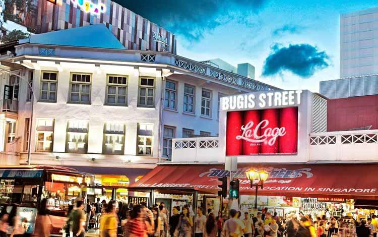 Bugis Street tempat beli oleh oleh murah di Singapura
