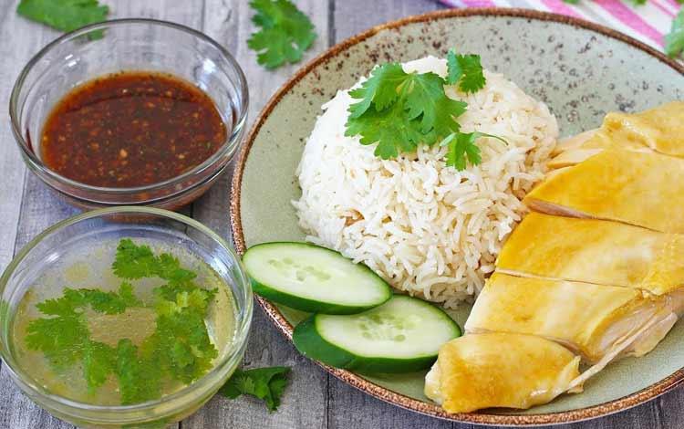 Makanan Thailand enak dan lezat di Indonesia - Thai Chicken Rice
