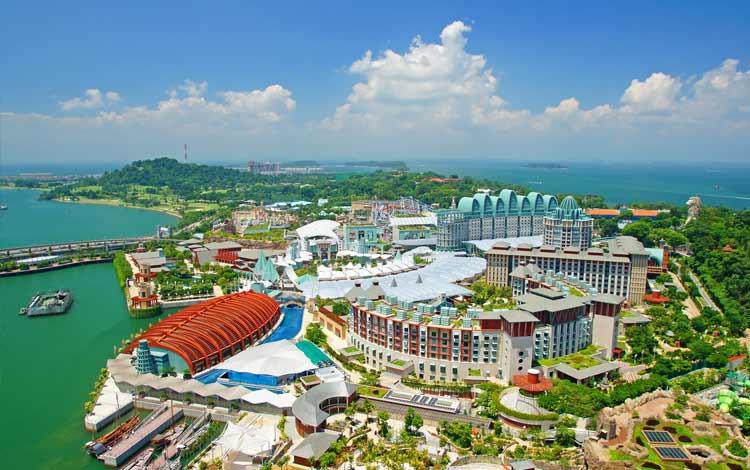 Tempat wisata favorit di Singapura - Sentosa Island