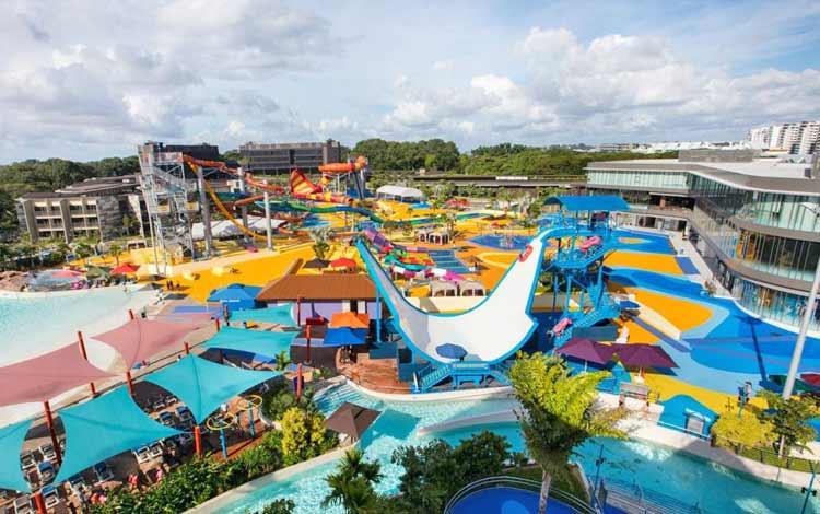 Tempat wisata favorit di Singapura - Wild Wild Wet