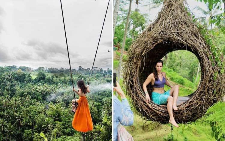 Tempat wisata terbaru di Bali - Bali Swing Bongkasa