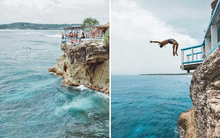 Tempat wisata terbaru di Bali - Clift Jump Point Nusa Ceningan