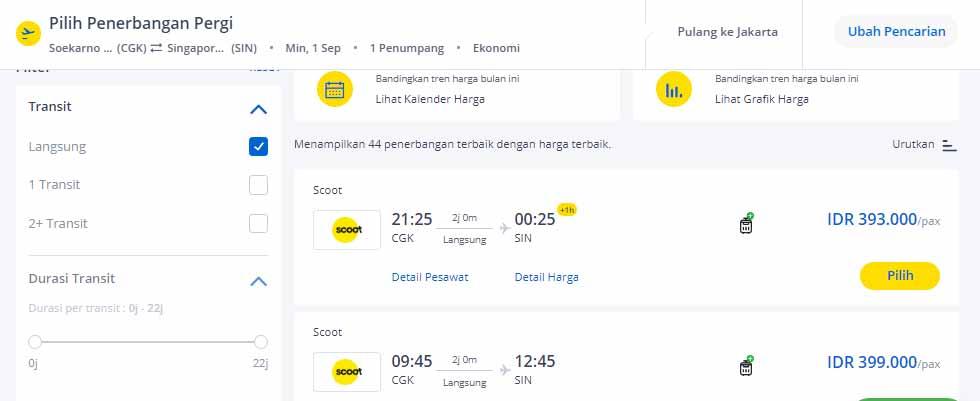 Tiket pesawat murah ke Singapura 2019