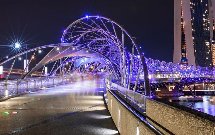 Info Terlengkap Singapura - Helix Bridge