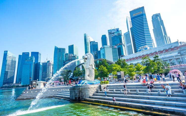 Info Terlengkap Singapura - Merlion Park