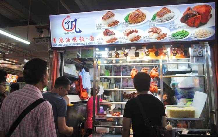 Tempat makan murah di Singapura - Hong Kong Soya Sauce Chicken Rice & Noodle
