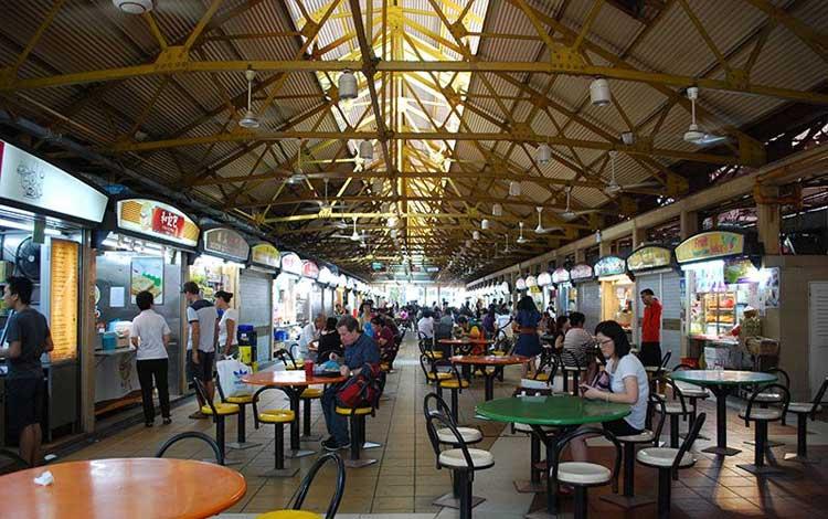 Tempat makan murah di Singapura - Maxwell Food Centre