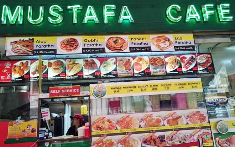 Tempat makan murah di Singapura - Mustafa Cafe