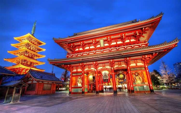 Tempat wisata terbaik di Jepang - Kuil Sensoji Asakusa