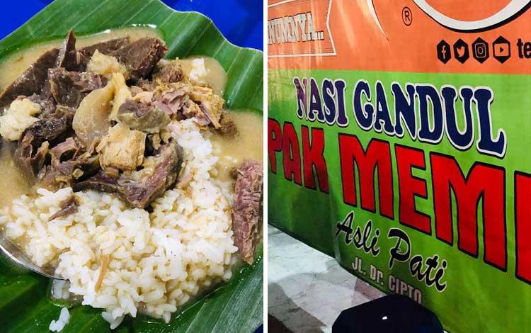 Tempat wisata kuliner di Semarang - Nasi Gandul Pak Memet