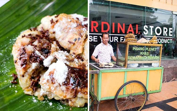 Tempat wisata kuliner di Semarang - Pisang Plenet Pak Subandi