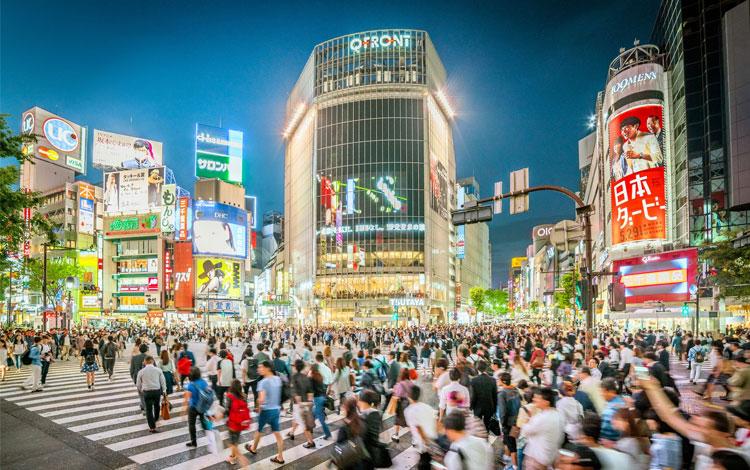 Tempat wisata terbaik di Jepang - Shibuya Crossing Intersection