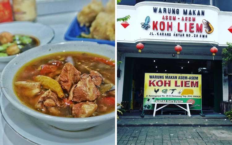 Tempat wisata kuliner di Semarang - Warung Makan Asem-Asem Koh Liem