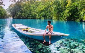 Danau terindah di Indonesia - Danau Labuan Cermin, Kalimantan Timur